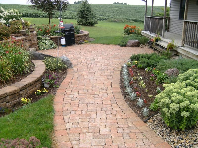 Access here lot info design your landscape grading costs for Paving designs for small garden path